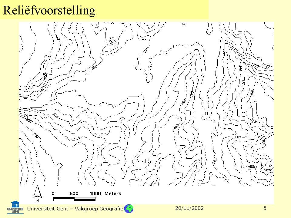 Reliëfvoorstelling Universiteit Gent – Vakgroep Geografie 20/11/20025