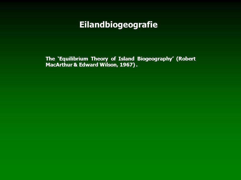 The 'Equilibrium Theory of Island Biogeography' (Robert MacArthur & Edward Wilson, 1967).