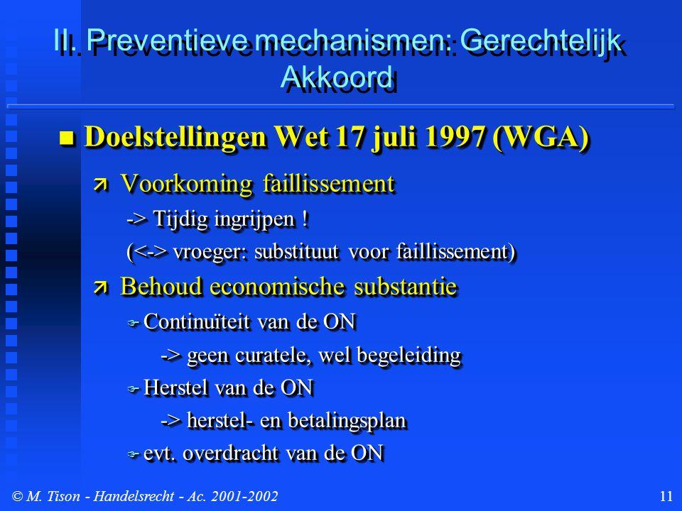 © M. Tison- Handelsrecht - Ac. 2001-200211 II.