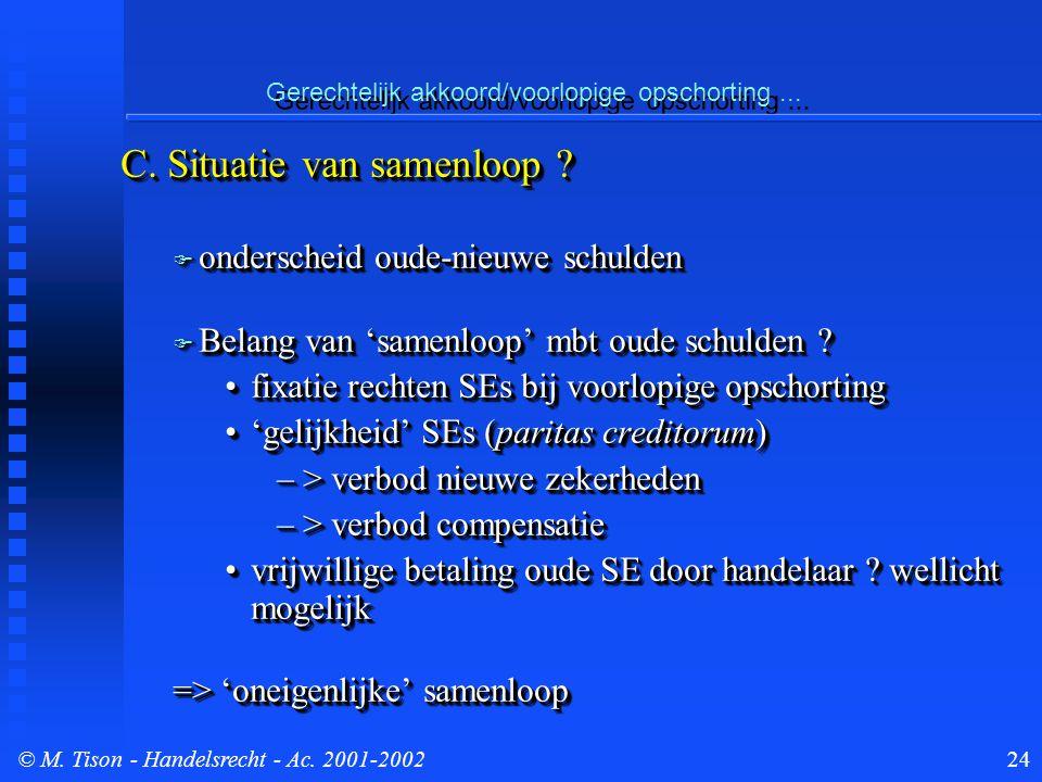 © M. Tison- Handelsrecht - Ac. 2001-200224 Gerechtelijk akkoord/voorlopige opschorting...