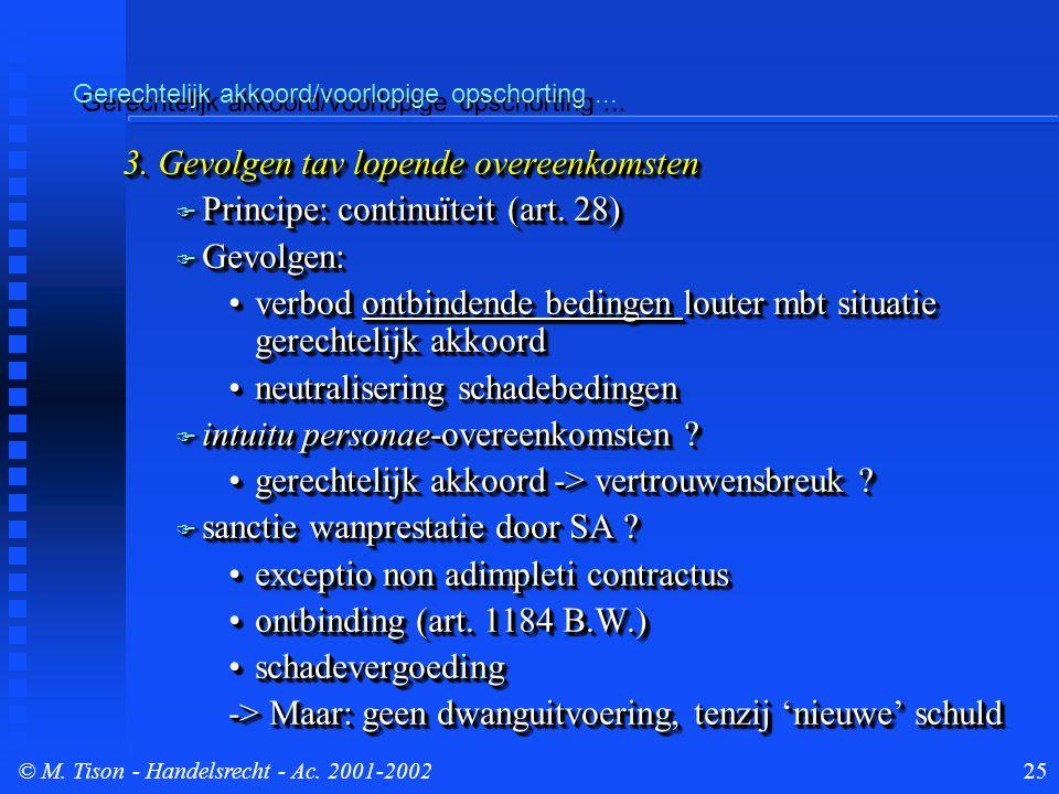 © M. Tison- Handelsrecht - Ac. 2001-200225 Gerechtelijk akkoord/voorlopige opschorting...