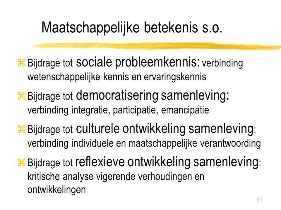 11 Maatschappelijke betekenis s.o.