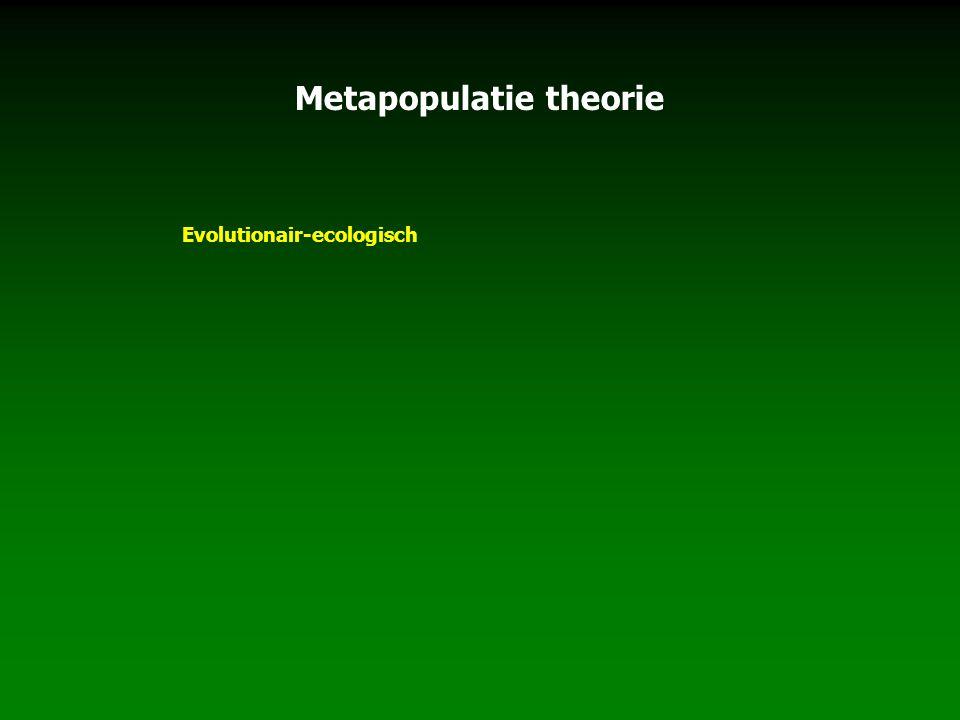 Metapopulatie theorie Evolutionair-ecologisch