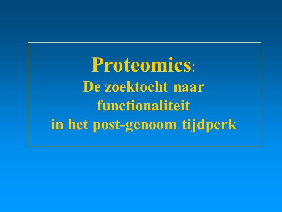 Proteomics : De zoektocht naar functionaliteit in het post-genoom tijdperk