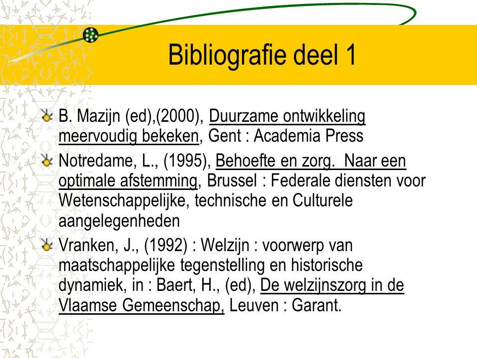 Bibliografie deel 1 B.