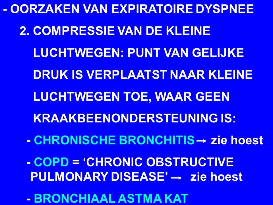 - OORZAKEN VAN EXPIRATOIRE DYSPNEE 2.