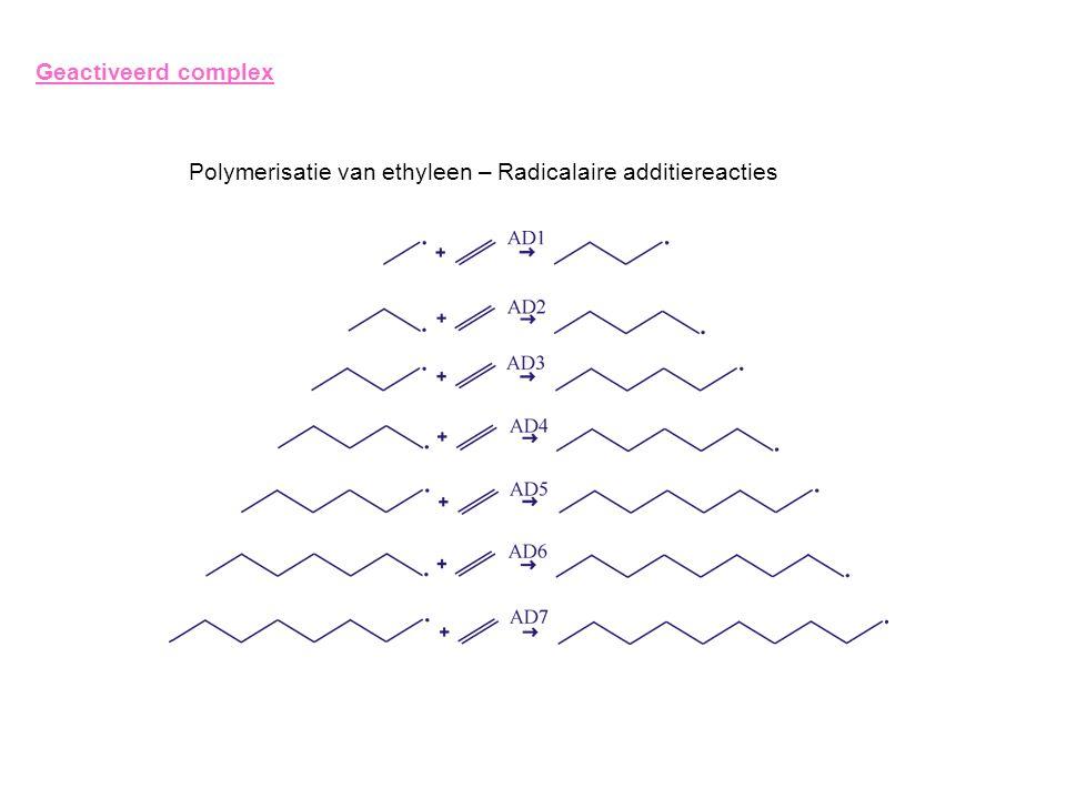 Geactiveerd complex Polymerisatie van ethyleen – Radicalaire additiereacties