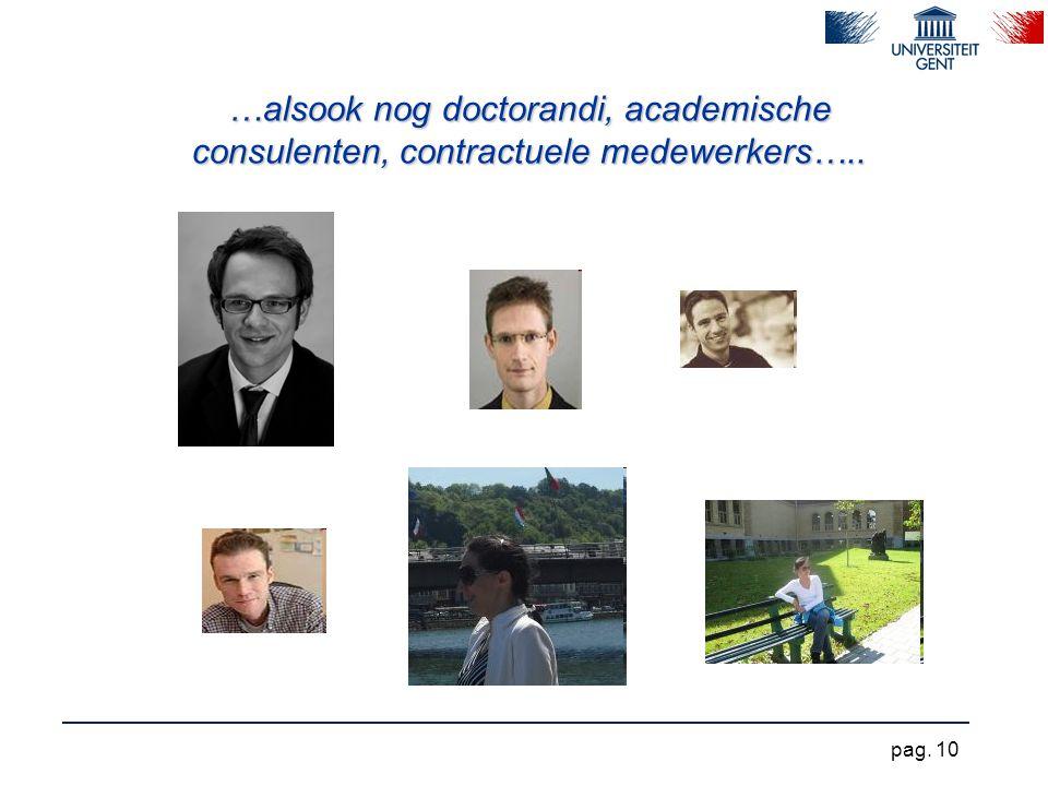 …alsook nog doctorandi, academische consulenten, contractuele medewerkers….. pag. 10