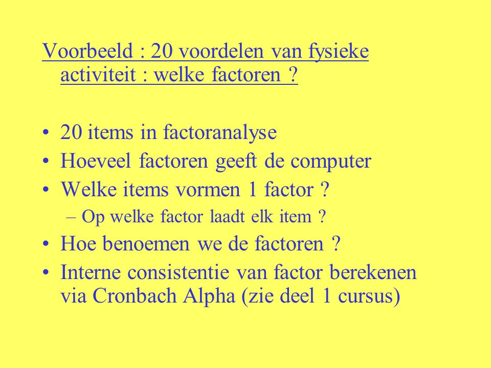 Voorbeeld : 20 voordelen van fysieke activiteit : welke factoren .