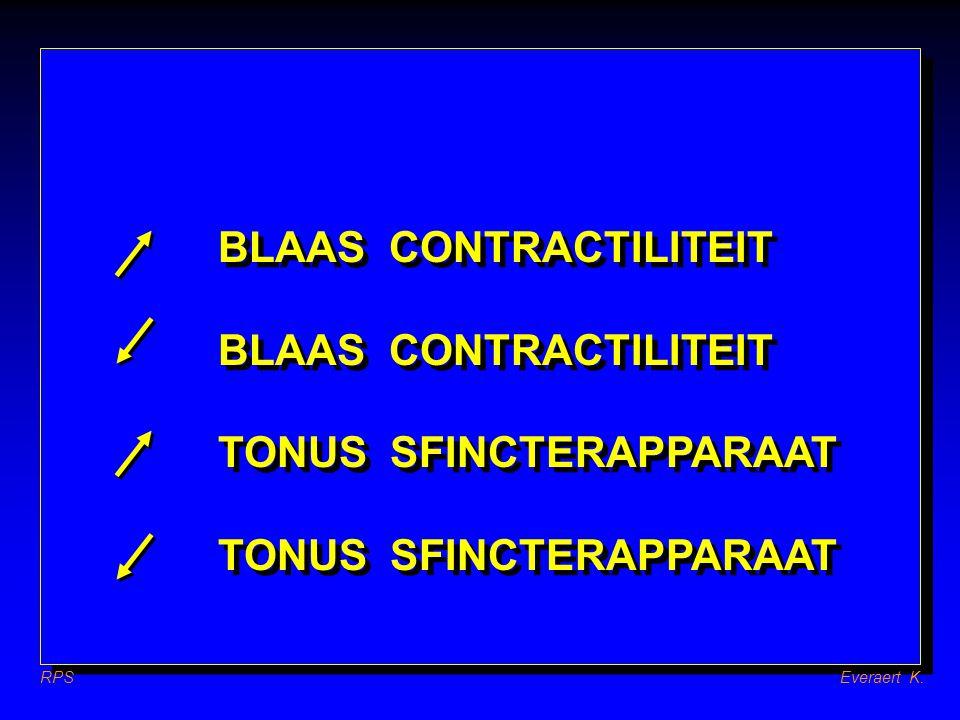 RPSEveraert K. BLAAS CONTRACTILITEIT TONUS SFINCTERAPPARAAT BLAAS CONTRACTILITEIT TONUS SFINCTERAPPARAAT