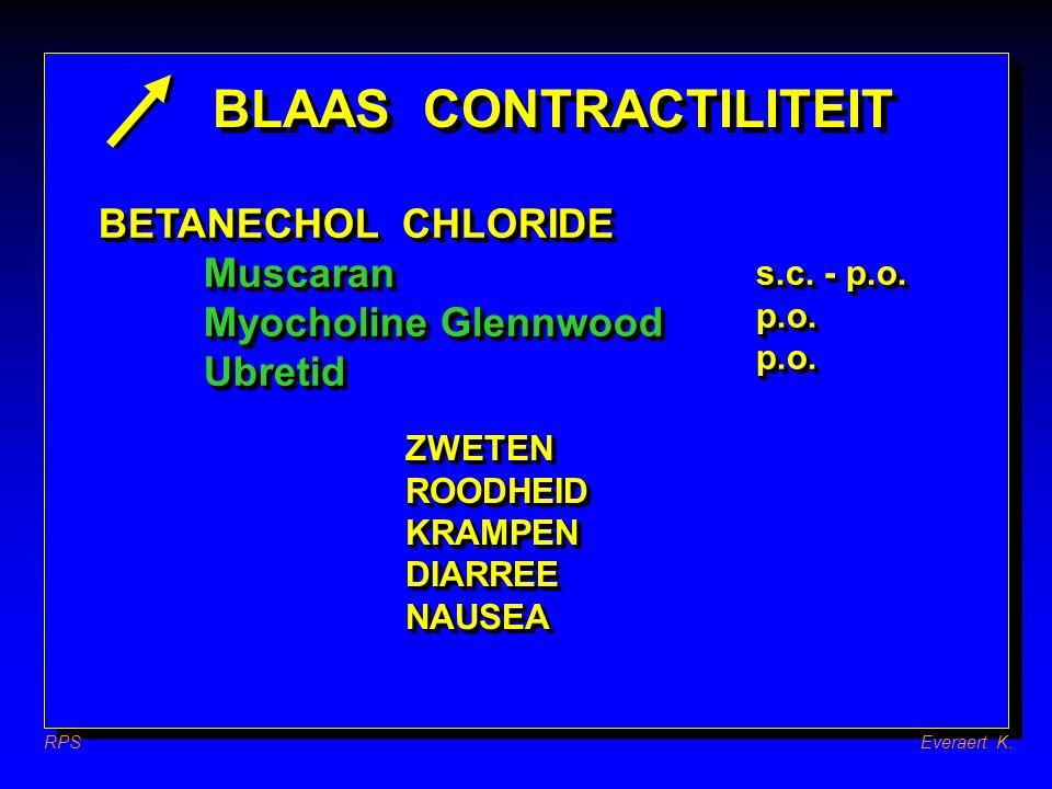 BLAAS CONTRACTILITEIT AnticholinergicaAnticholinergica Flavoxate: Urispas RPSEveraert K.