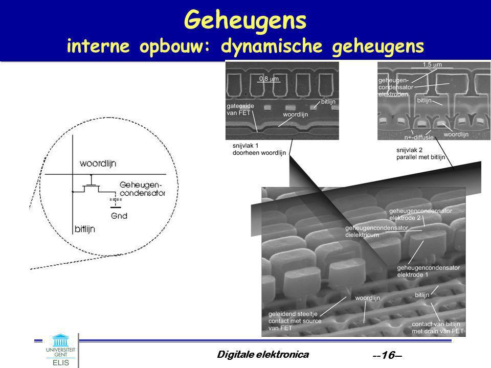 Digitale elektronica --16-- Geheugens interne opbouw: dynamische geheugens