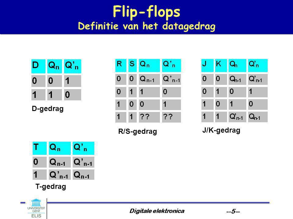 Digitale elektronica --6-- Flip-Flops een overzicht Voorbeelden van pdf- bestanden 74HC74 74F109 7476 7475 7473 74279 Voorbeelden van pdf- bestanden 74HC74 74F109 7476 7475 7473 74279