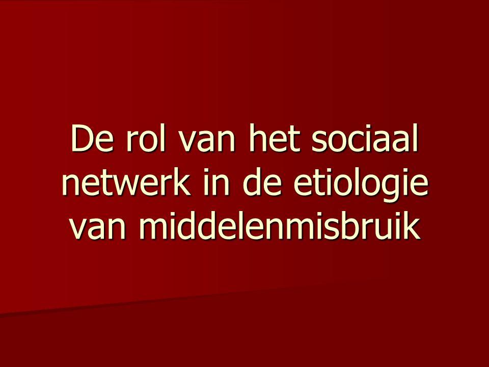 De rol van het sociaal netwerk in de etiologie van middelenmisbruik