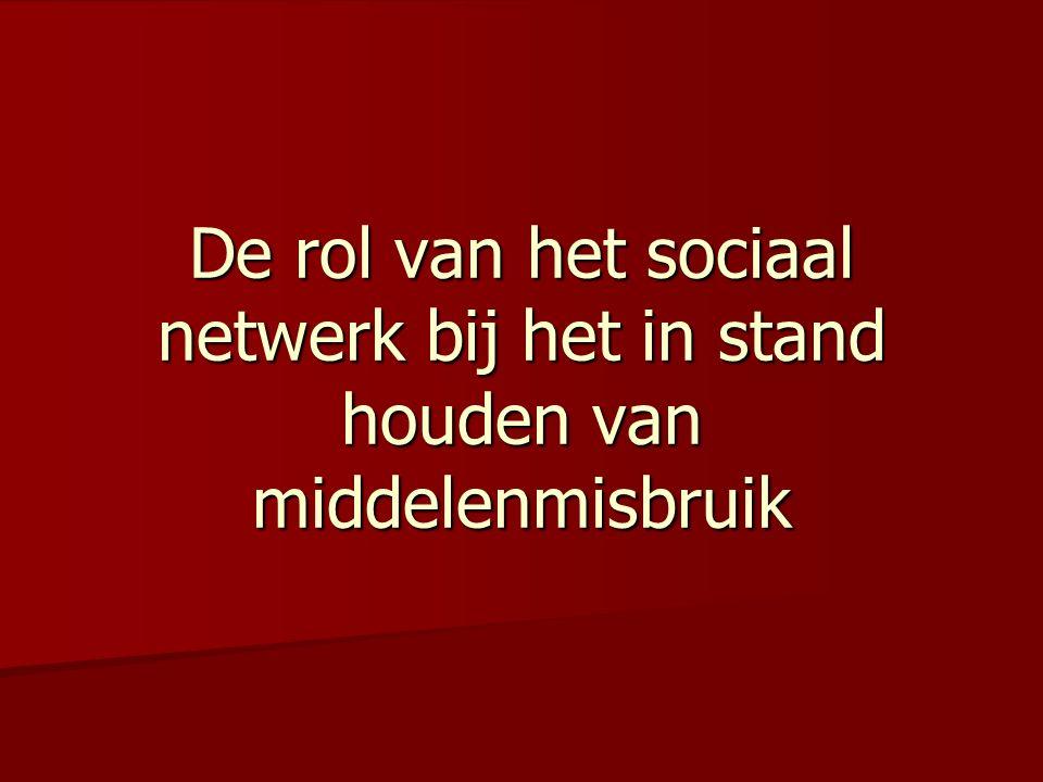 De rol van het sociaal netwerk bij het in stand houden van middelenmisbruik