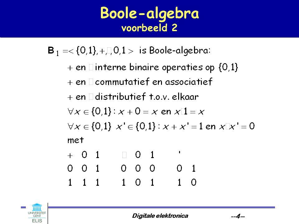Digitale elektronica --4-- Boole-algebra voorbeeld 2