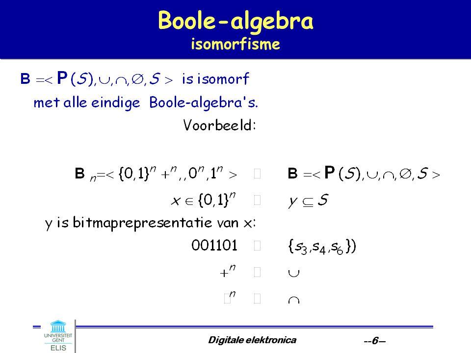 Digitale elektronica --6-- Boole-algebra isomorfisme