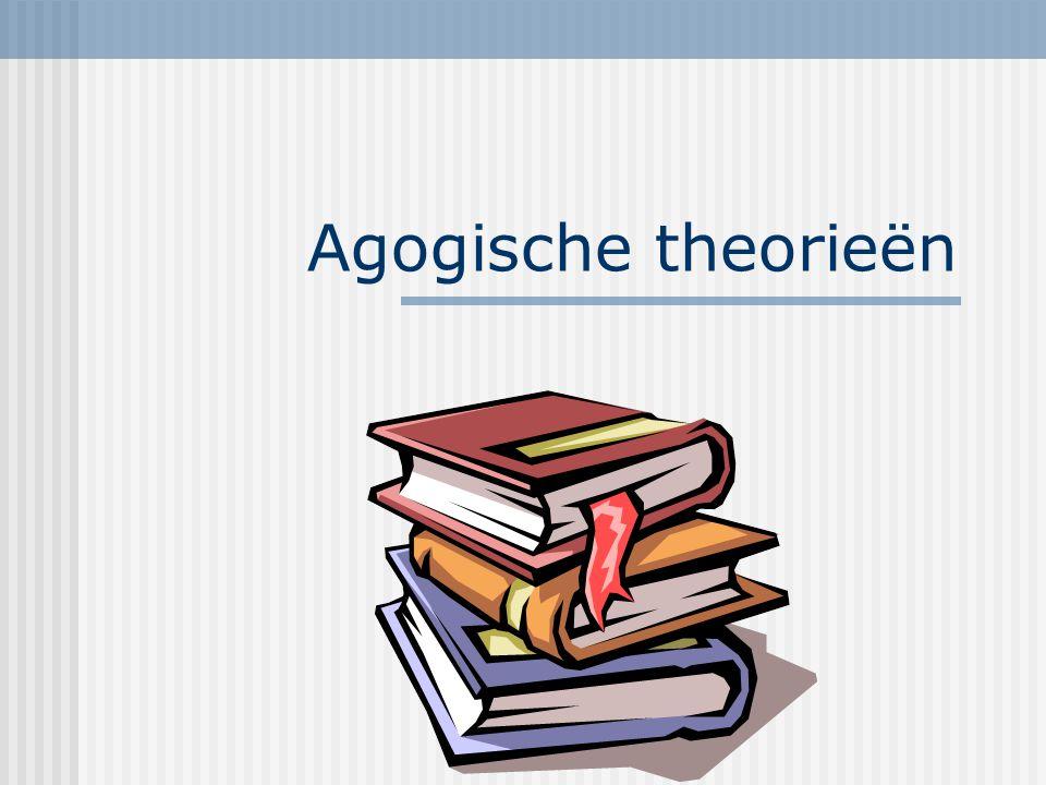 Agogische theorieën Colleges 2001-2002