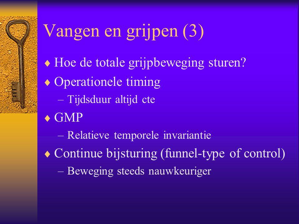 Vangen en grijpen (3)  Hoe de totale grijpbeweging sturen.