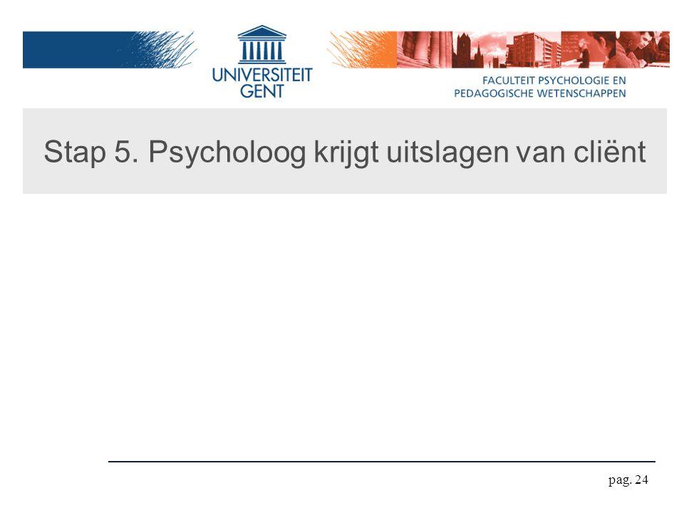 Stap 5. Psycholoog krijgt uitslagen van cliënt pag. 24