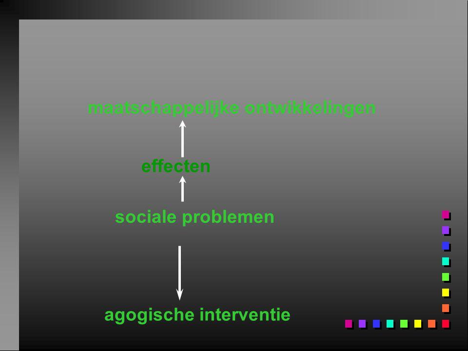 maatschappelijke ontwikkelingen sociale problemen agogische interventie effecten