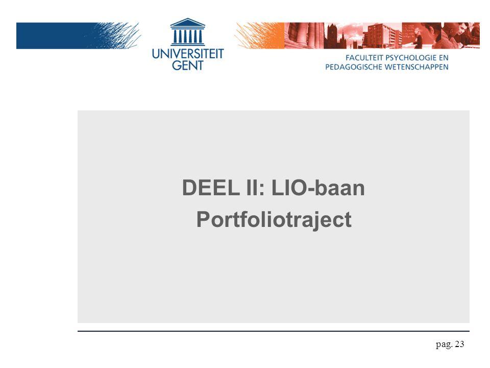 DEEL II: LIO-baan Portfoliotraject pag. 23
