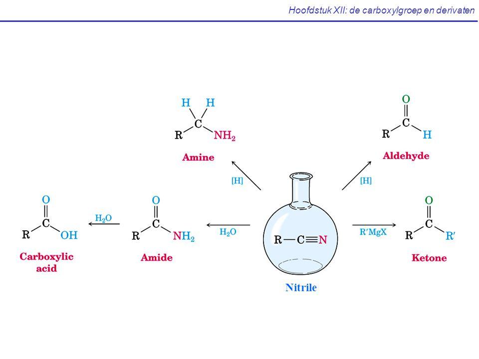 Hoofdstuk XII: de carboxylgroep en derivaten Nitrile