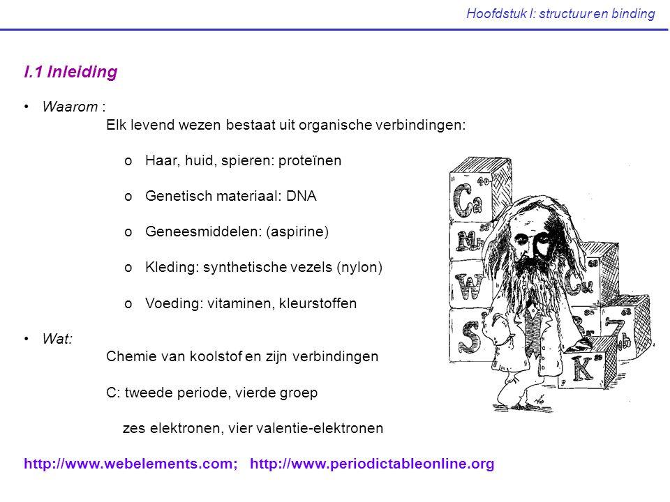 Hoofdstuk I: structuur en binding Het Periodiek Systeem van de Elementen Periode Groep