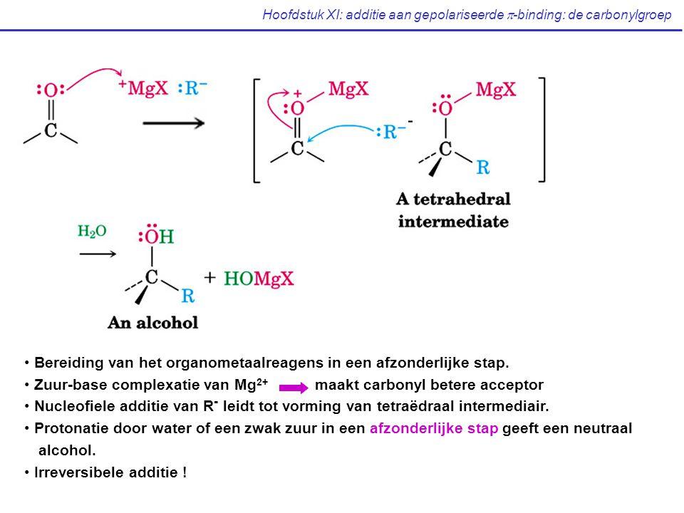 Hoofdstuk XI: additie aan gepolariseerde  -binding: de carbonylgroep Bereiding van het organometaalreagens in een afzonderlijke stap.