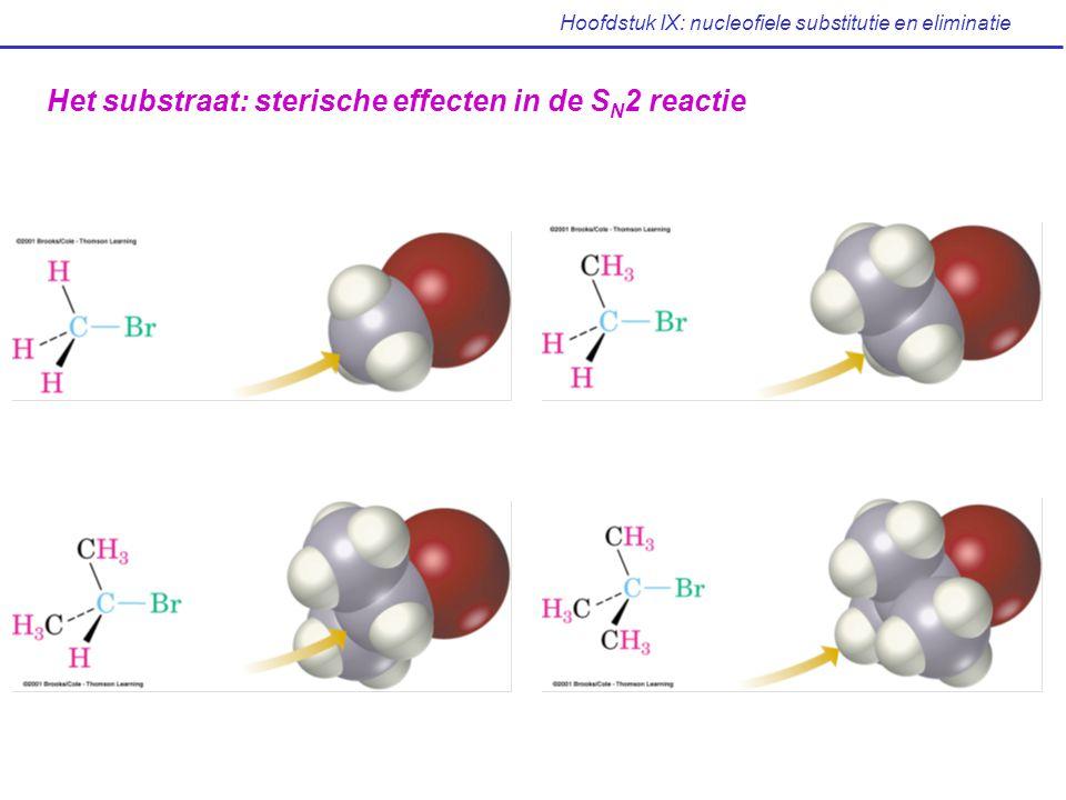Hoofdstuk IX: nucleofiele substitutie en eliminatie Het substraat: sterische effecten in de S N 2 reactie