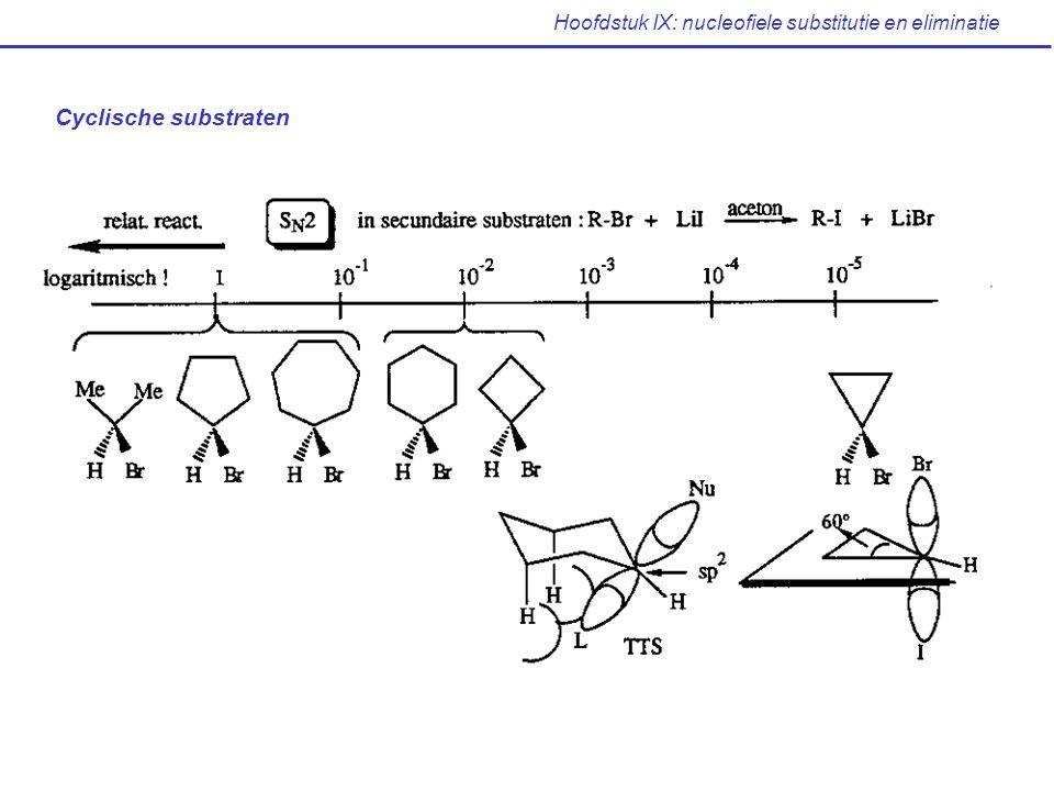 Hoofdstuk IX: nucleofiele substitutie en eliminatie Cyclische substraten