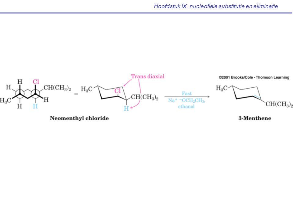 Hoofdstuk IX: nucleofiele substitutie en eliminatie