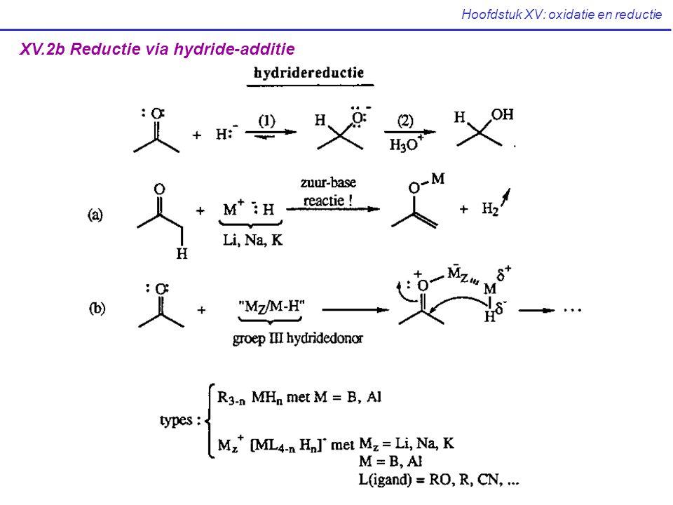 Hoofdstuk XV: oxidatie en reductie XV.2b Reductie via hydride-additie