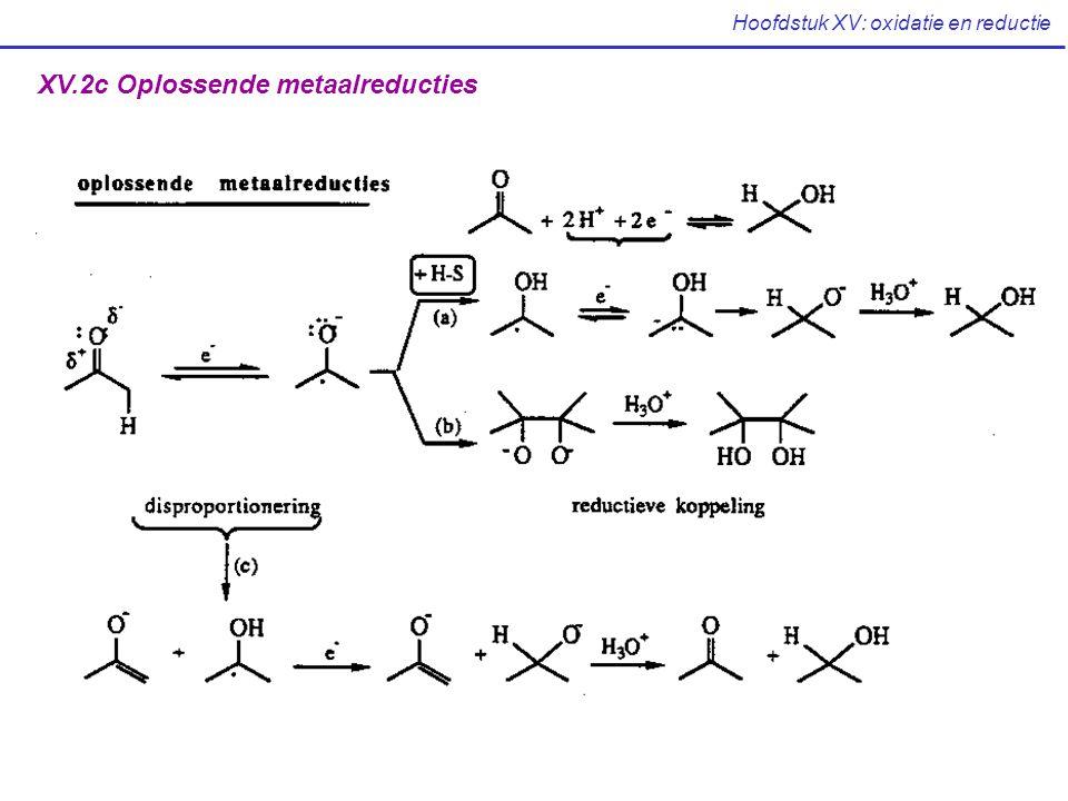 Hoofdstuk XV: oxidatie en reductie XV.2c Oplossende metaalreducties