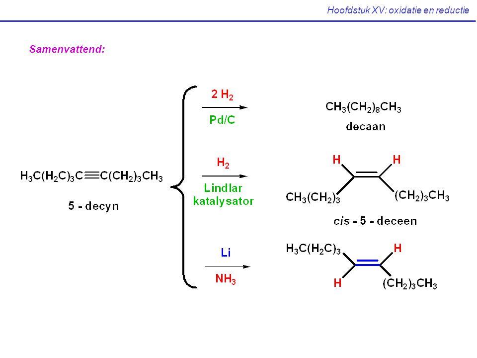 Hoofdstuk XV: oxidatie en reductie Samenvattend: