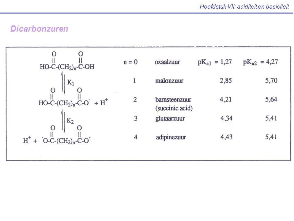 Hoofdstuk VII: aciditeit en basiciteit Dicarbonzuren