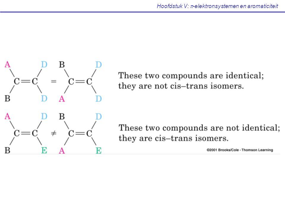 Hoofdstuk V:  -elektronsystemen en aromaticiteit