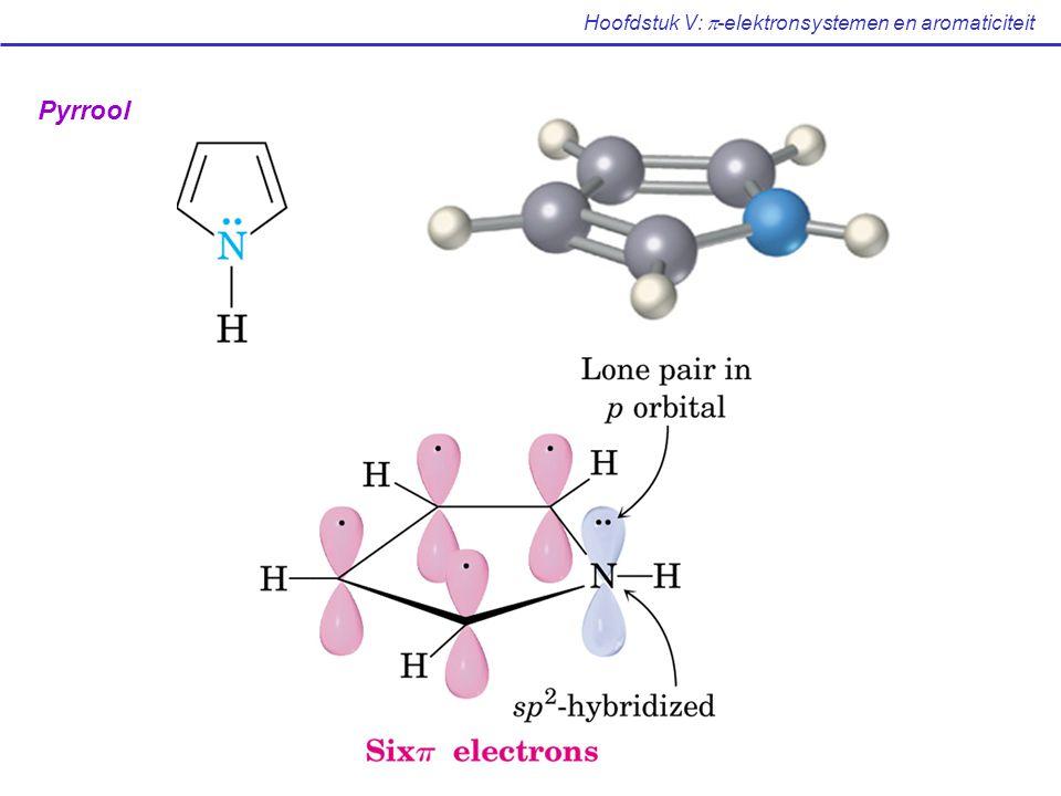 Hoofdstuk V:  -elektronsystemen en aromaticiteit Pyrrool