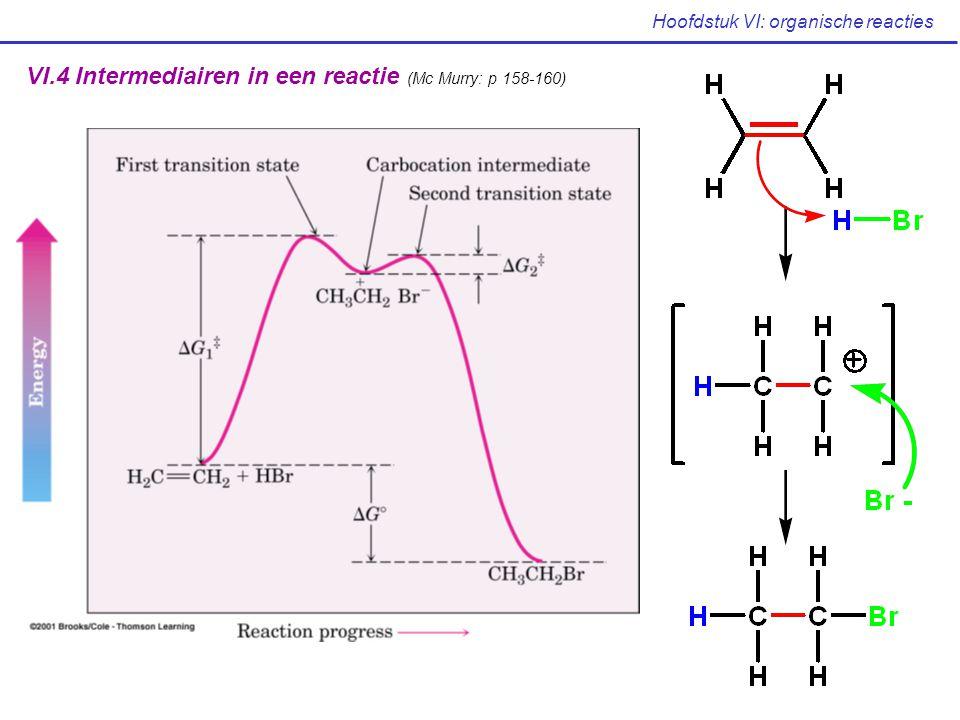 VI.4 Intermediairen in een reactie (Mc Murry: p 158-160)