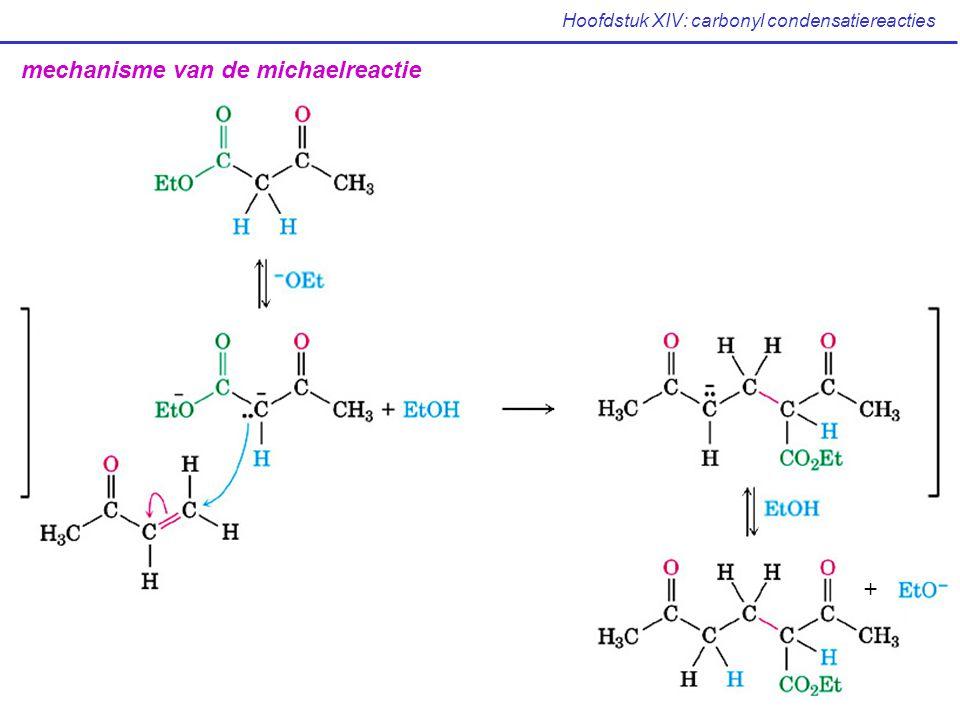 Hoofdstuk XIV: carbonyl condensatiereacties mechanisme van de michaelreactie +