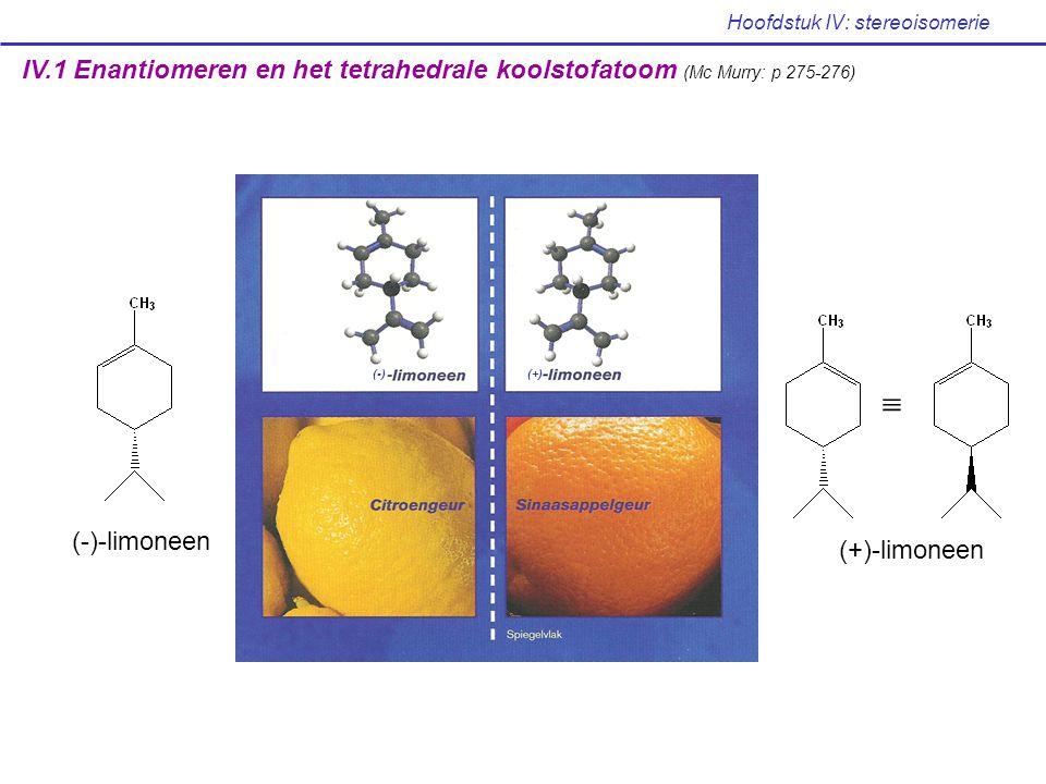 Hoofdstuk IV: stereoisomerie S n -as .