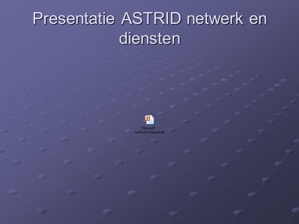 Gespreksgroepen BW Gent ASTRID radiocommunicatie