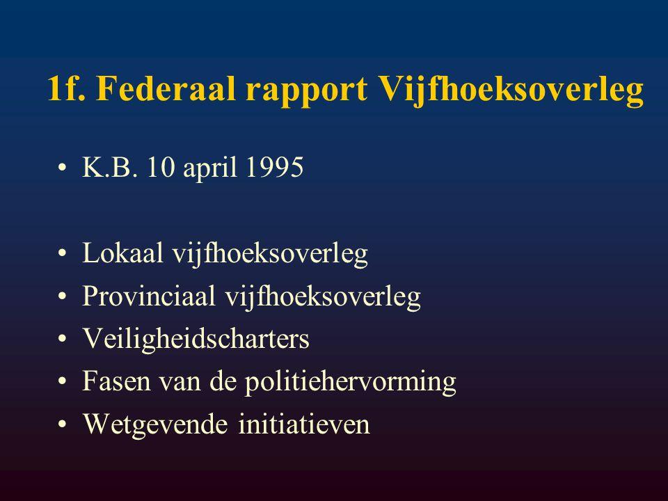 1f. Federaal rapport Vijfhoeksoverleg K.B.