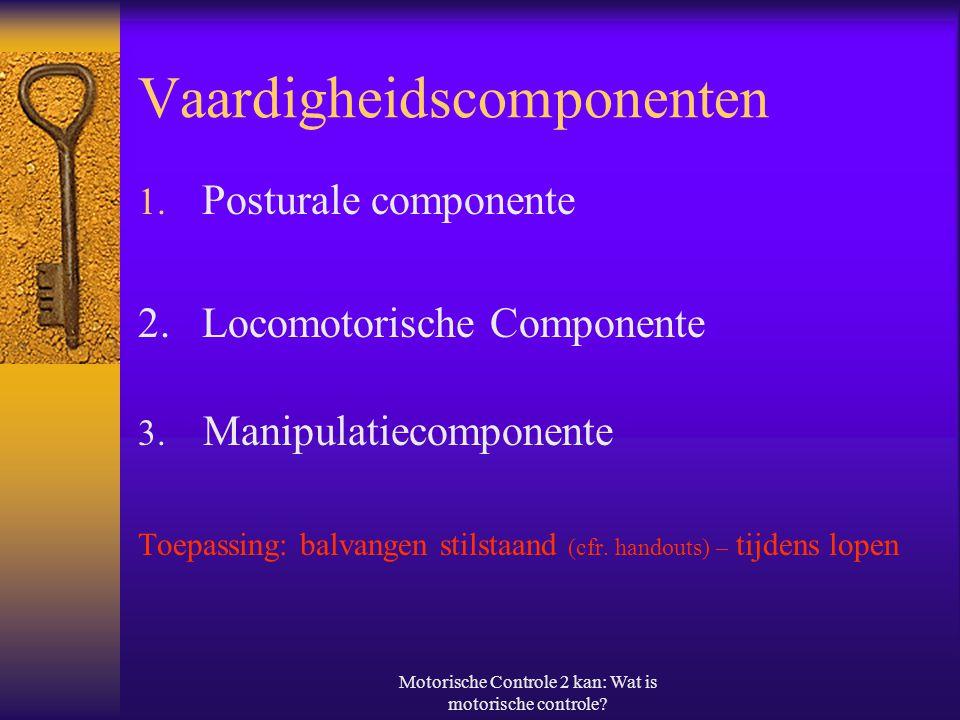 Motorische Controle 2 kan: Wat is motorische controle.