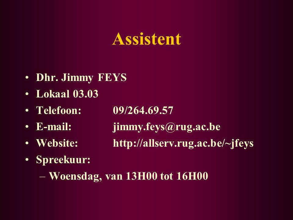 Assistent Dhr.