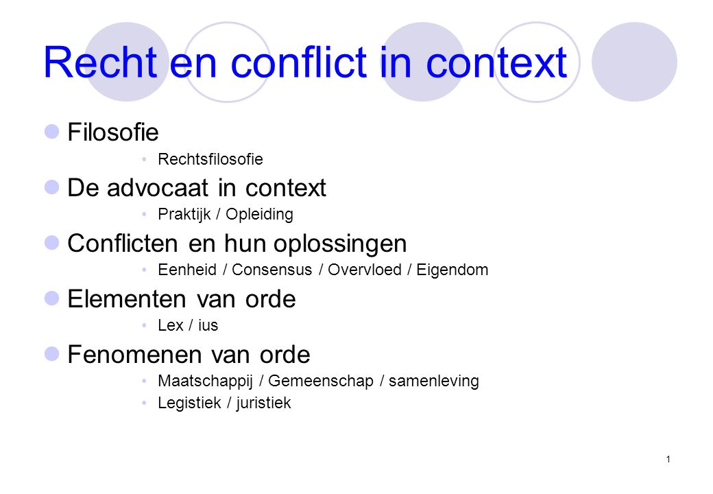 2 Filosofie (1) Productie Grondslagen Toepassing Theorieën Consumptie