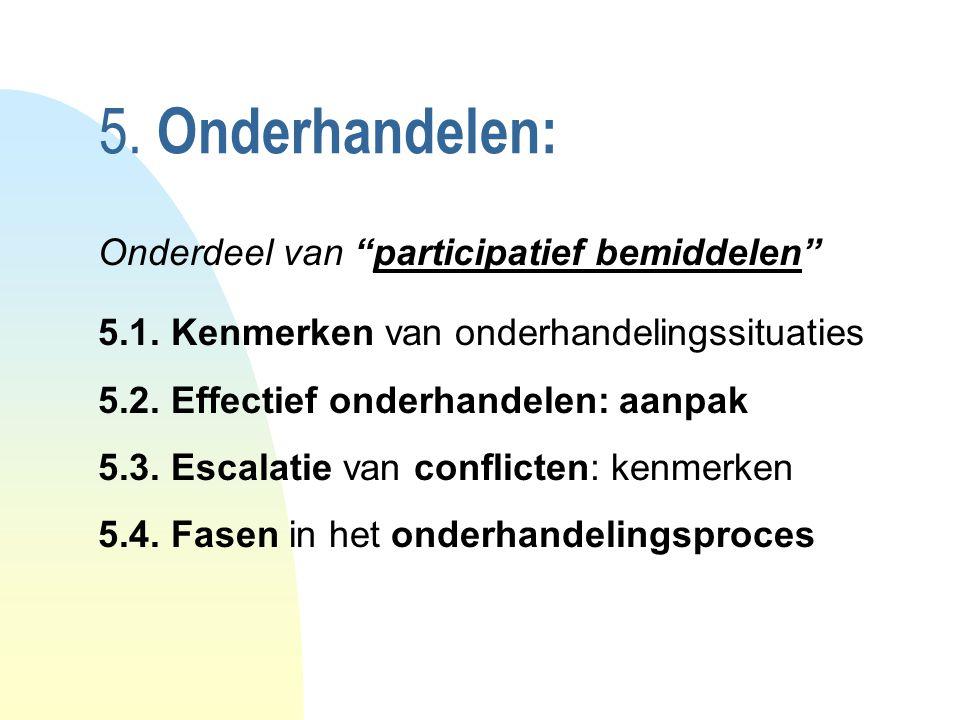 5.Onderhandelen: Onderdeel van participatief bemiddelen 5.1.