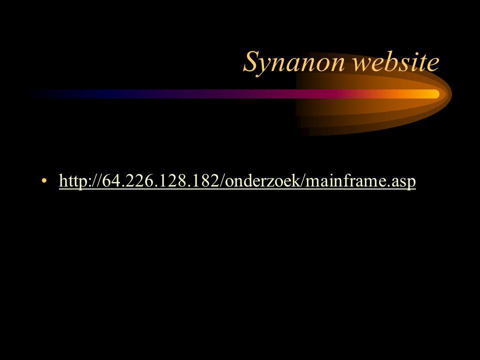 Synanon website http://64.226.128.182/onderzoek/mainframe.asp