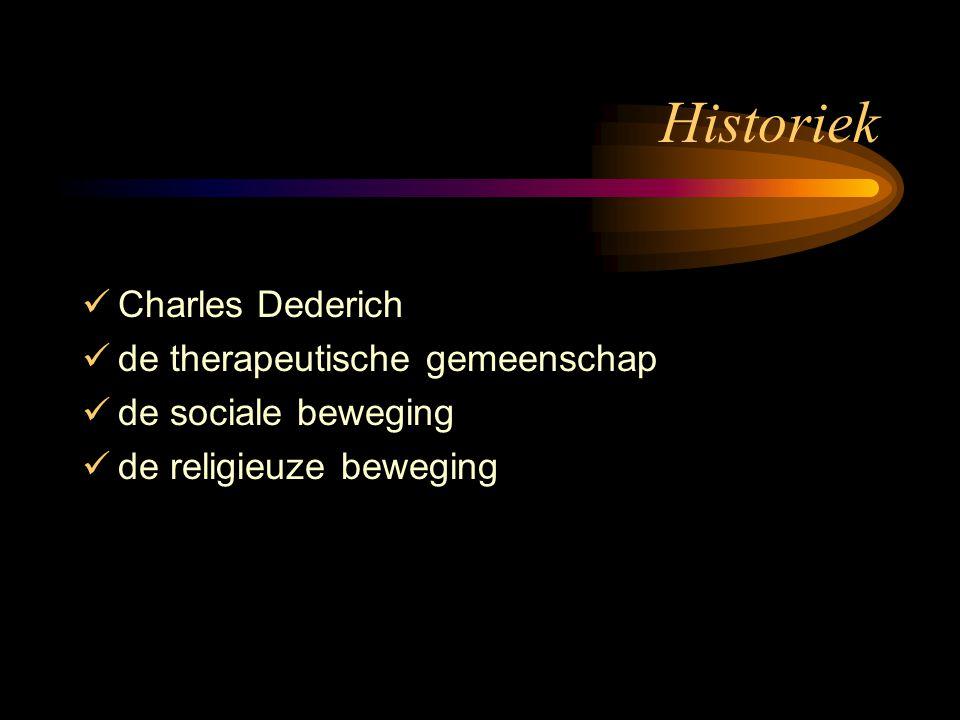 Historiek Charles Dederich de therapeutische gemeenschap de sociale beweging de religieuze beweging