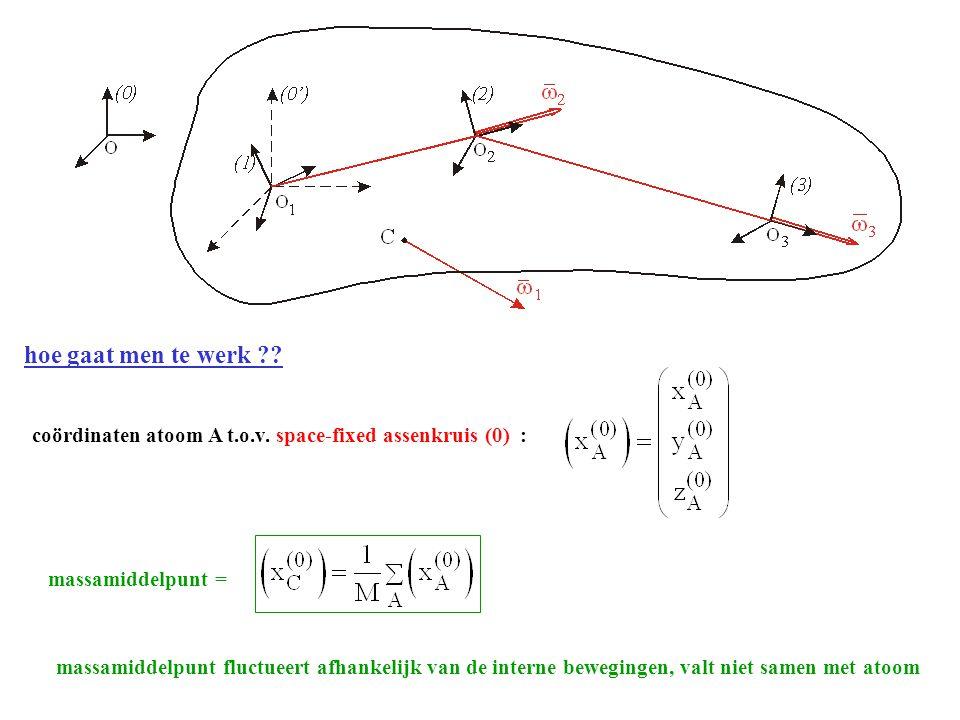 hoe gaat men te werk ?.coördinaten atoom A t.o.v.